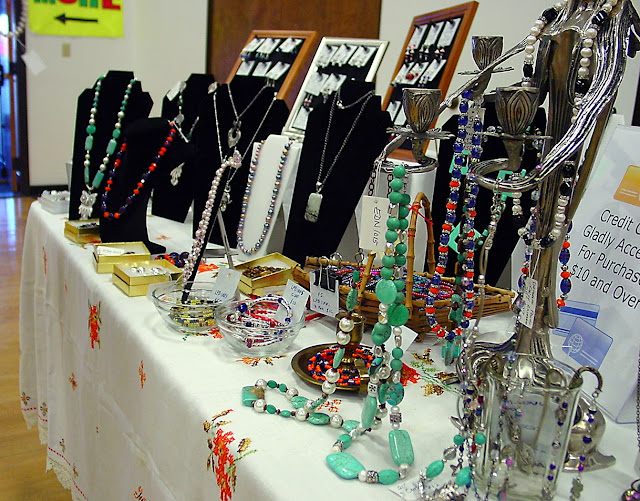 table of jewelry goods