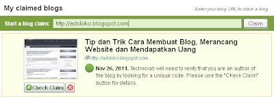 Gambar 1 Claim Blog