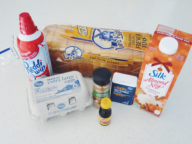recipe with Silk Almond Nog, How to make french toast, Thanksgiving breakfast option