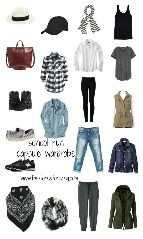 Fashioned For Living: 8 school run capsule wardrobe / stay at home ...