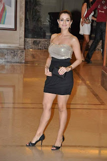 Actress Amisha Patel at Sanjay Dutt