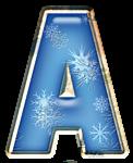 Зимний алфавит со снежинками