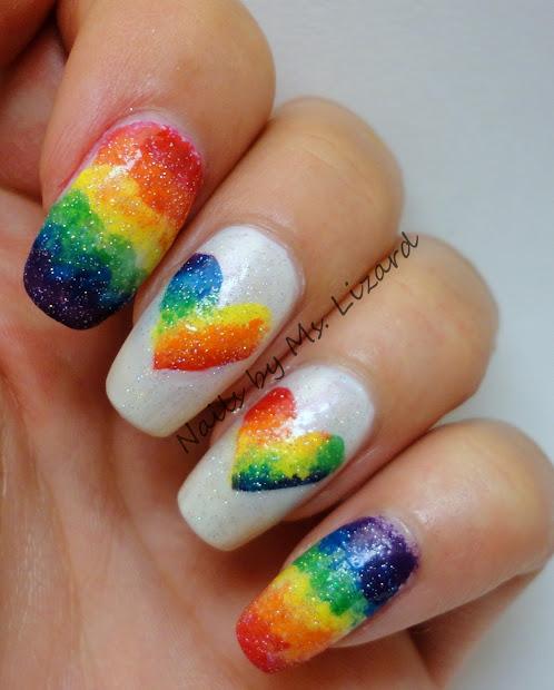 nails ms. lizard rainbow