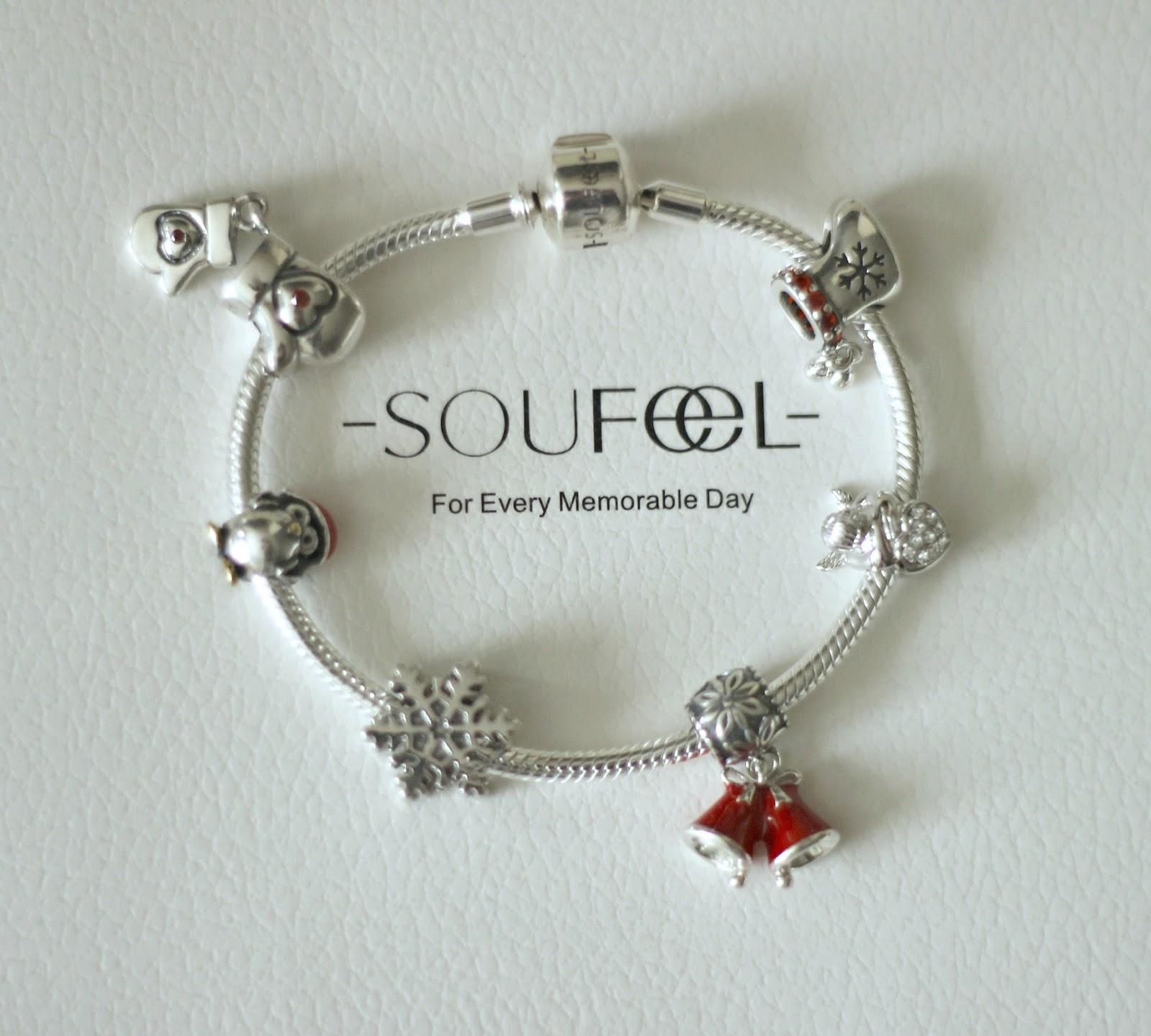 SOUFEEL Jewelry 925 Sterling Silver Christmas Charm Bracelet