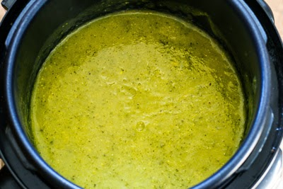 finished soup - Zucchini and Yellow Squash Soup with Rosemary and Parmesan (Pressure Cooker or Stovetop) found on KalynsKitchen.com