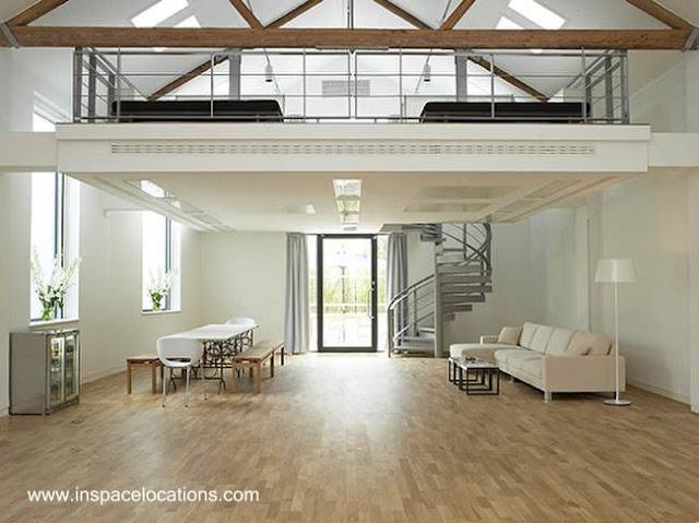 Arquitectura interior entrepiso en espacio contemporáneo