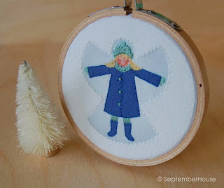 Hand Embroidery Holiday Ornaments by SeptemberHouse