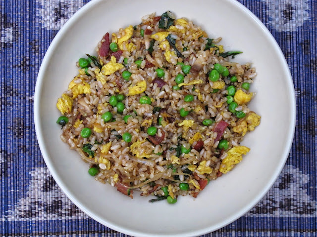 Spring Vegetable, Bacon, and Egg Fried Rice