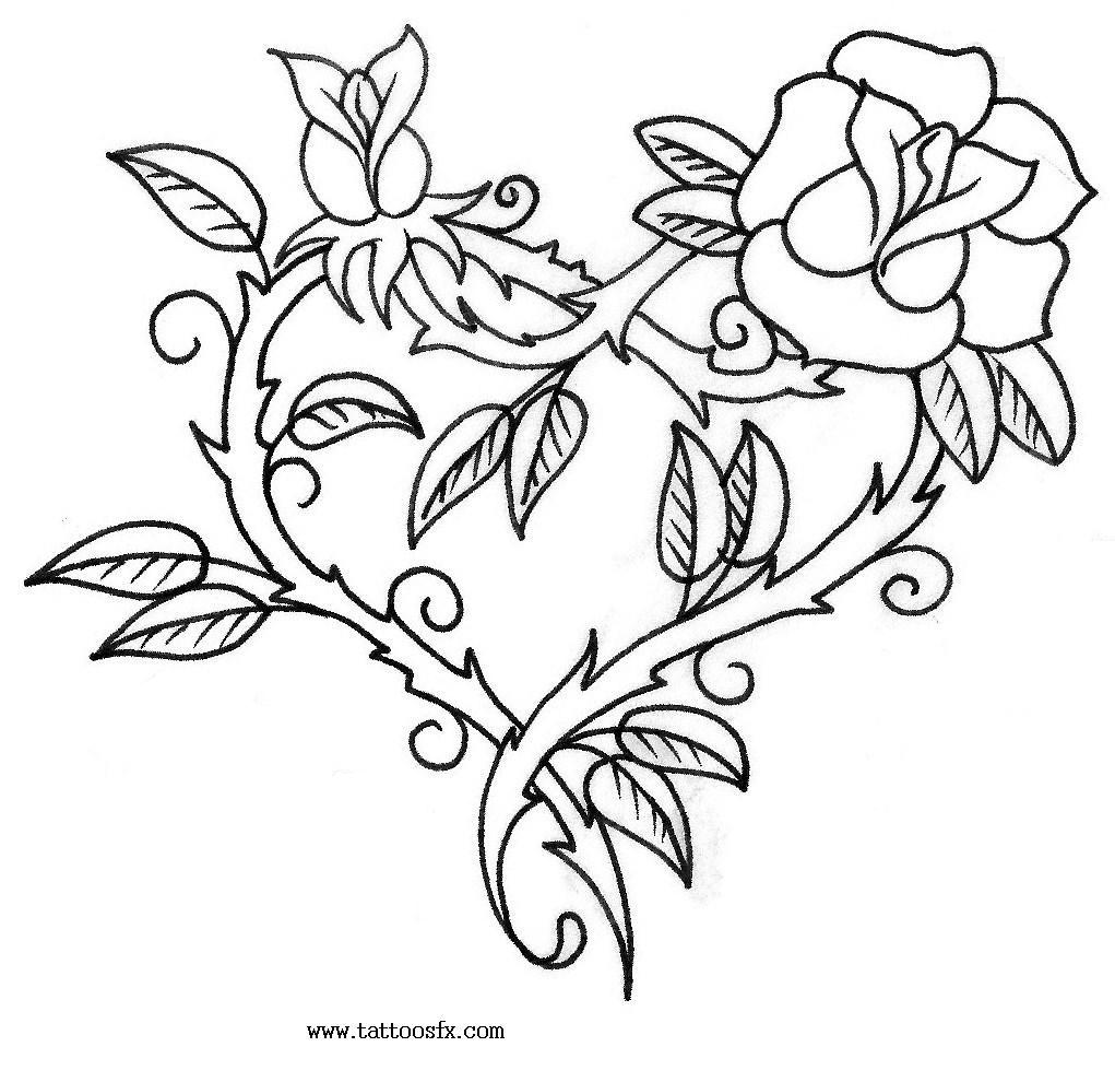 Hearts And Roses And Stars Drawings Find all tattoo designs top
