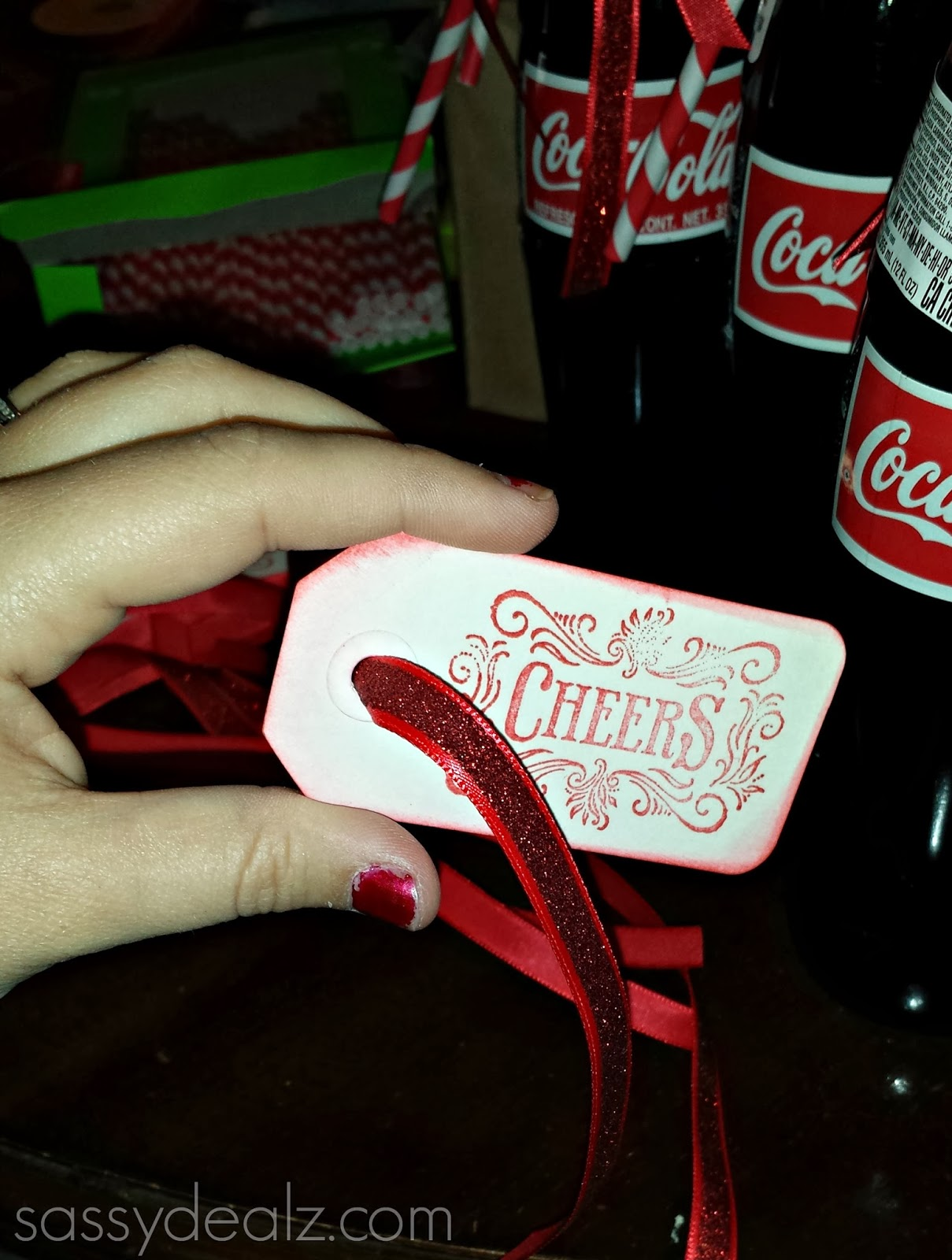 diy coke bottle label wedding favors