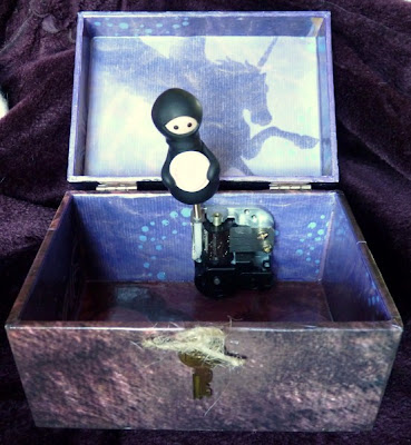 Whoopidooings/Carmen Wing - Mixed Media Altered Barbie to Ninja Jewellery Box