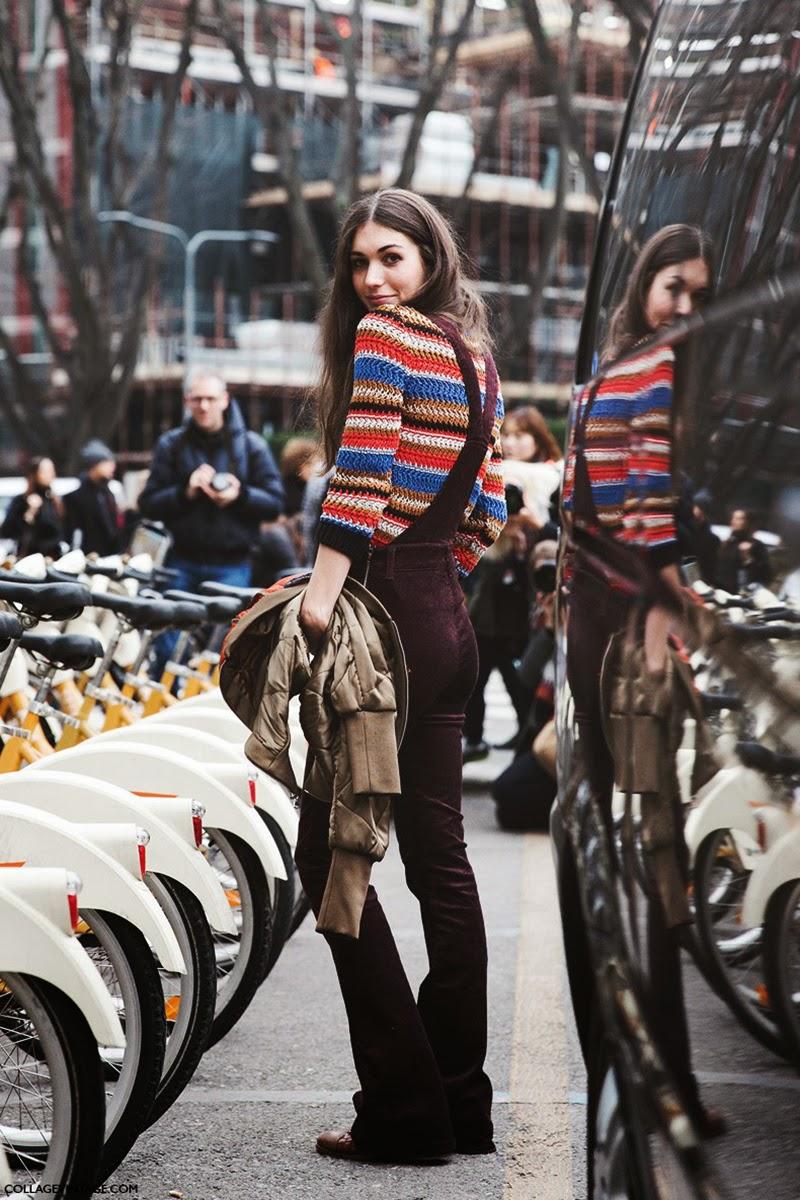 Streetstyle at Milan Fashion Winter 2015