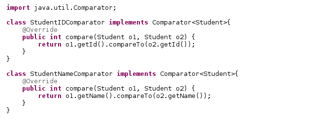 Java Latte Comparable And Comparator Interfaces In Java