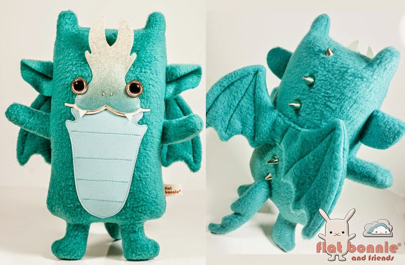 WonderCon Exclusive Sour Candy Edition Sparq the Baby Dragon Plush by Flat Bonnie