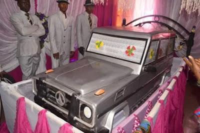 Igbo Kwenu!! Anambra Billionaire Buried In G-wagon (Photo)