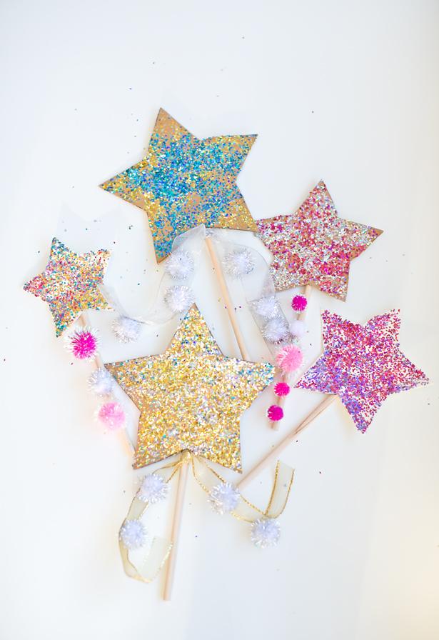 New year 39 s eve wish wands munchkins and mayhem for Glitter wand