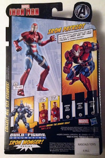 Hasbro Marvel Legends Iron Man - Iron Patriot in Package - back