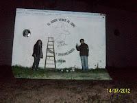 """Mural """"El amor vence al odio"""" en General Guido"""
