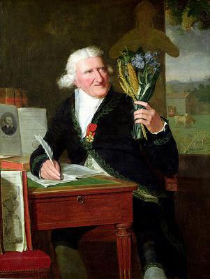 Antoine-Augustin Parmentier holding potato flowers
