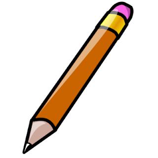 desenho de lápis escolar