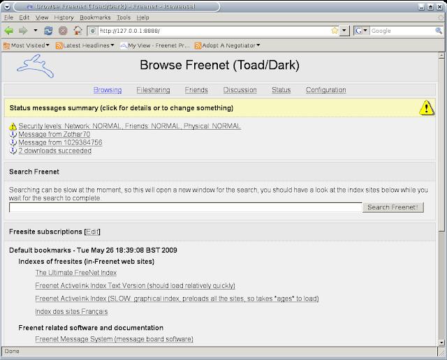 FreeNet 0.7.5 Build 1409 للتصفح السري وفتح المواقع المغلقة باخر اصدار Freenet 0.7.5 build 1409 released.png