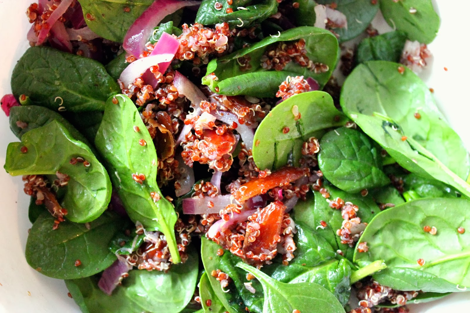 Mix Everything In A Bowl, With The Baby Spinach Leaves You Want Something  Of A Warm Salad