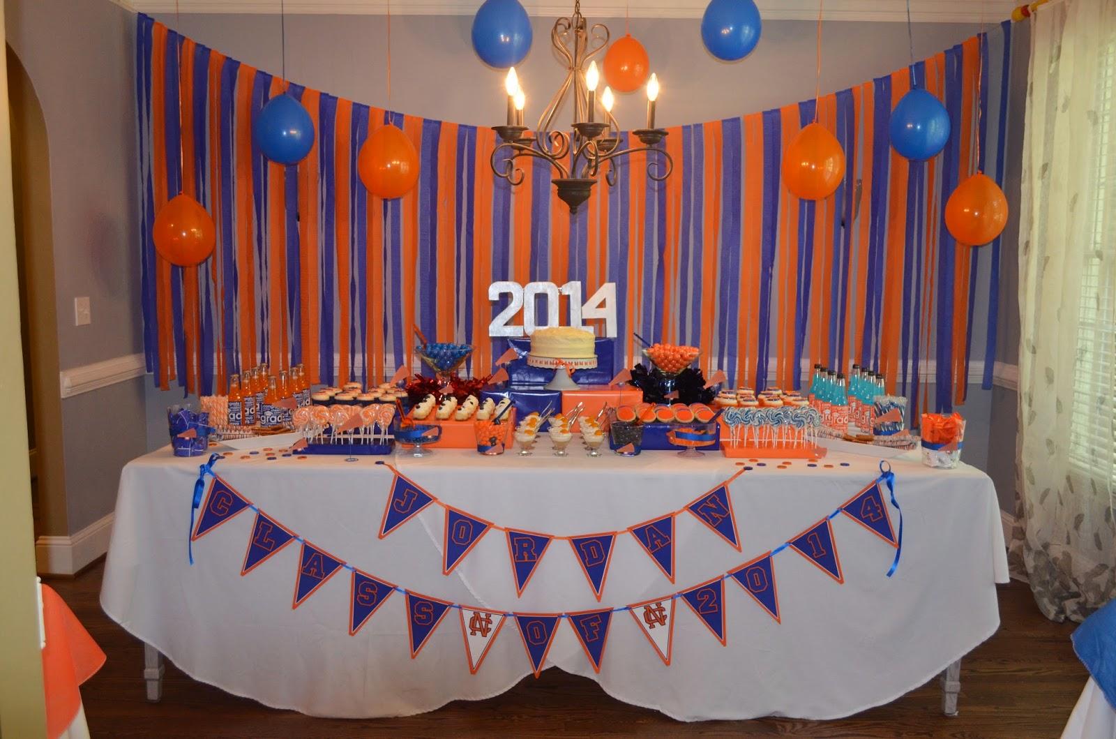 cakegirl 39 s kitchen blue and orange graduation party