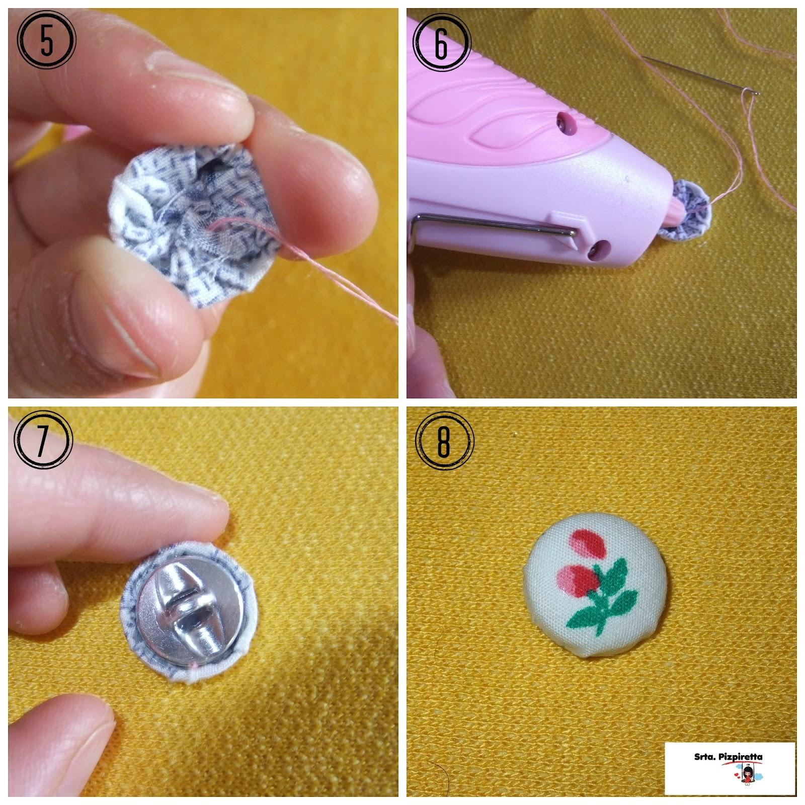 Srta pizpiretta tutorial como forrar botones sin - Botones para forrar ...