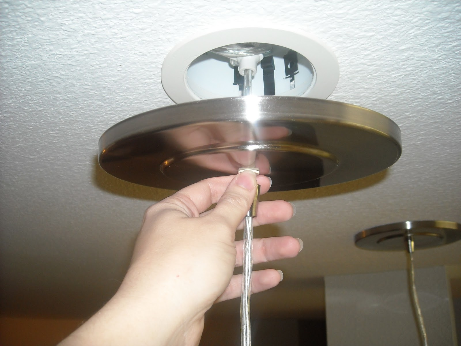 A Recessed Light Into A Hanging Pendant Converter