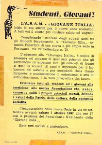 BERGAMO 7 OTTOBRE 1967