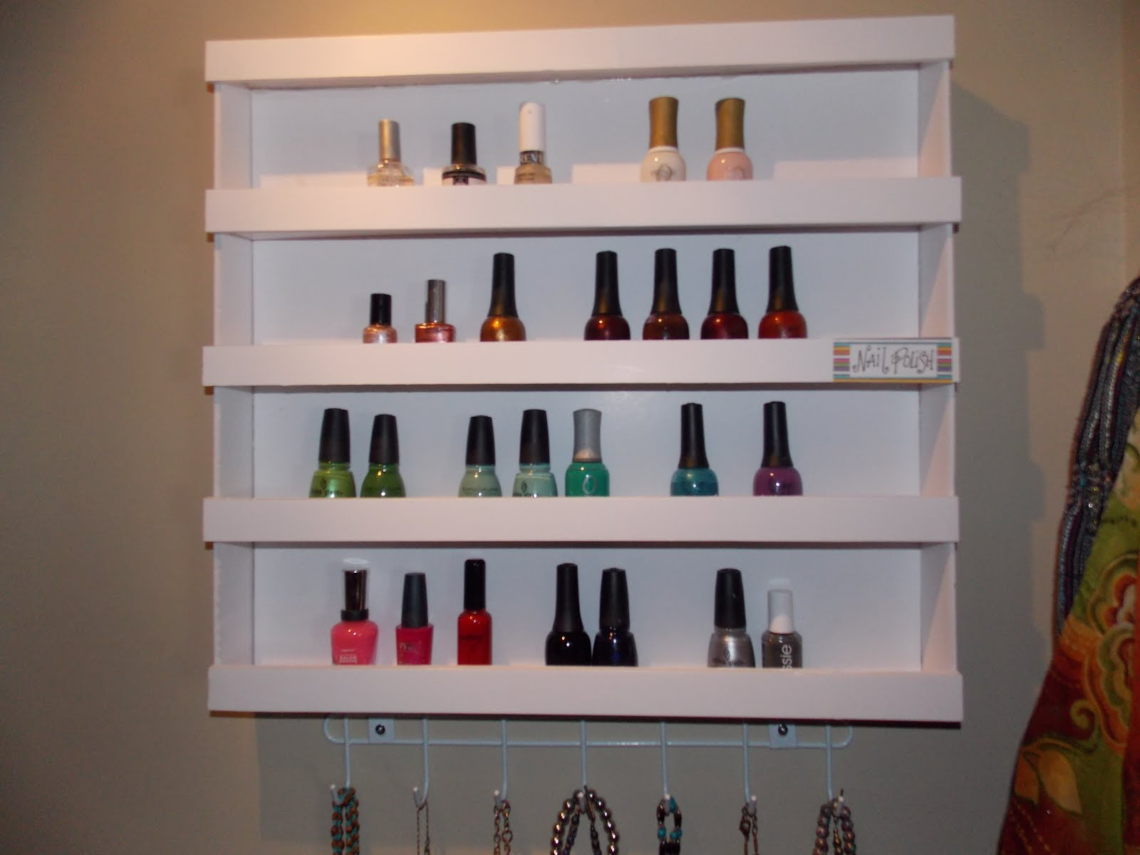 Keep Calm and KERRI On: DIY Nail Polish Shelf (It\'s made out of what ...