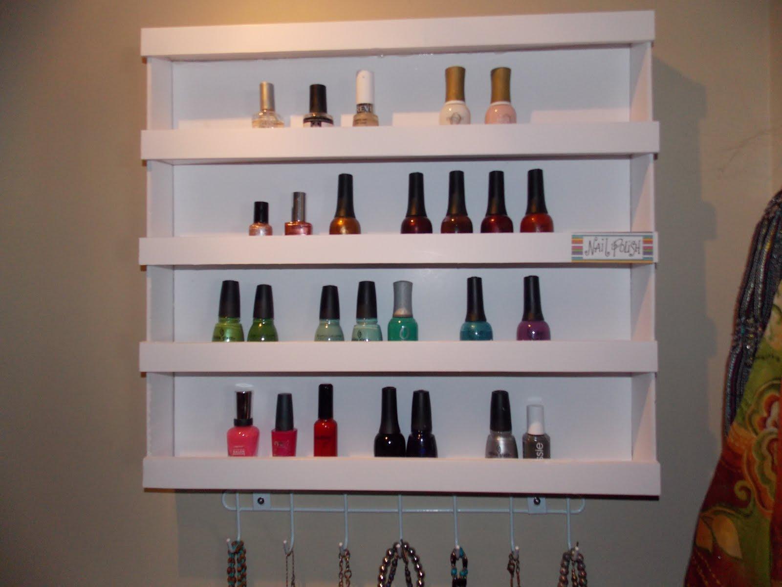 keep calm and kerri on diy nail polish shelf it 39 s made. Black Bedroom Furniture Sets. Home Design Ideas