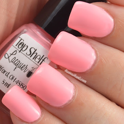 Top Shelf Lacquer  Watermelon Malibu Surf swatches