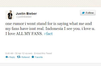 Justin Bieber Akhirnya Angkat Bicara: I Love You Indonesia