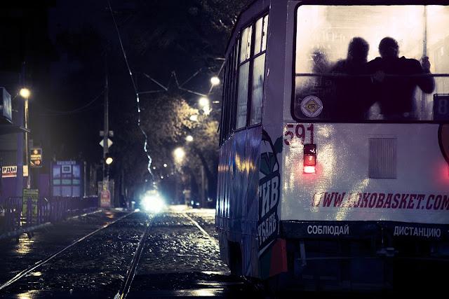 Трамвай, Ночь, Любовь, юг, Краснодар, Кубань