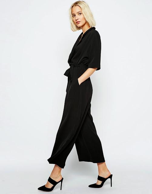 weekday black jumpsuit