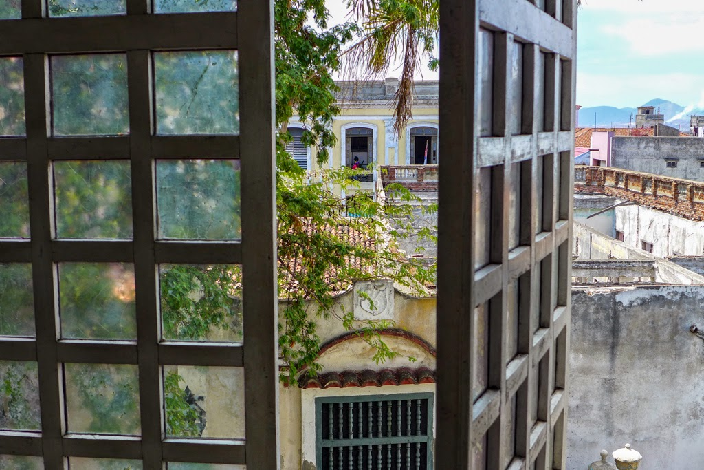 Santiago de Cuba looking out the window of Museo Bacardi