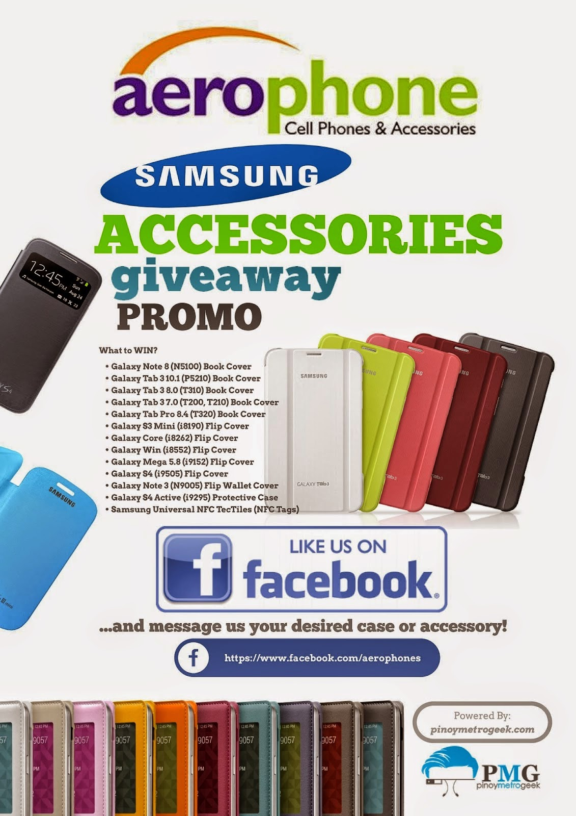 Aerophone Cebu Samsung Smartphone and Tablet Accessories Giveaway Promo