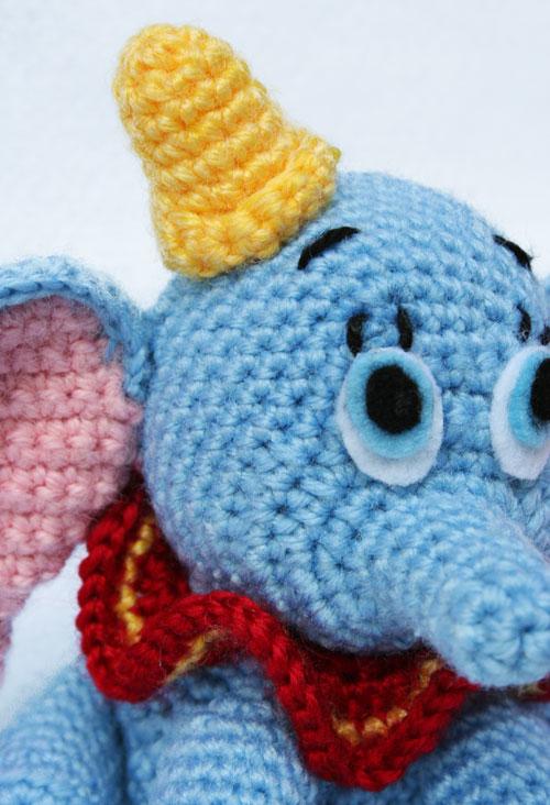 Cappello elefante Dumbo amigurumi
