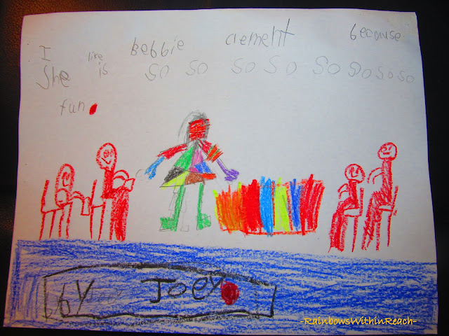 photo of: Kindergarten Thank You letter