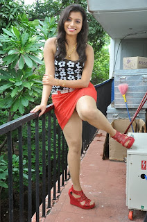 Actress Priyanka Expose Milky Thigh in Skirt and Top