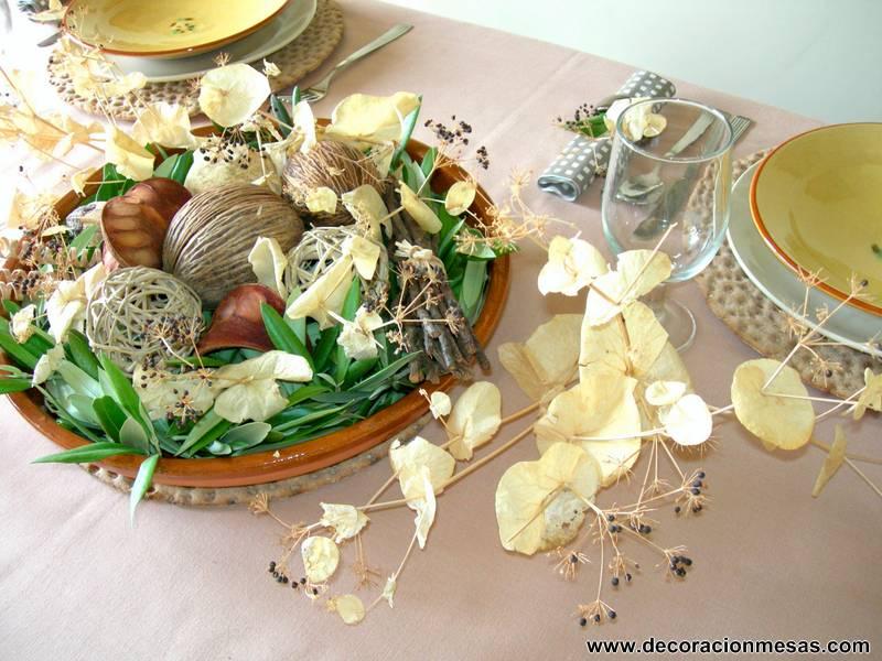 Decoracion de mesas mesa rustica - Centro de mesa rustico ...