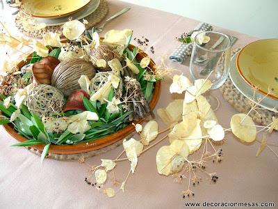 decoracion mesas centro mesa rustico