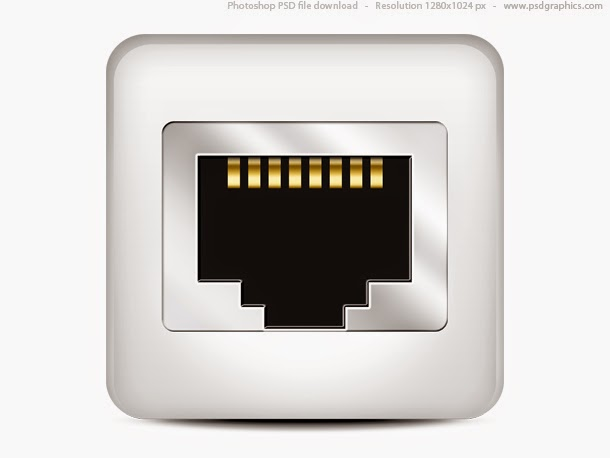 Computer Network Icon PSD