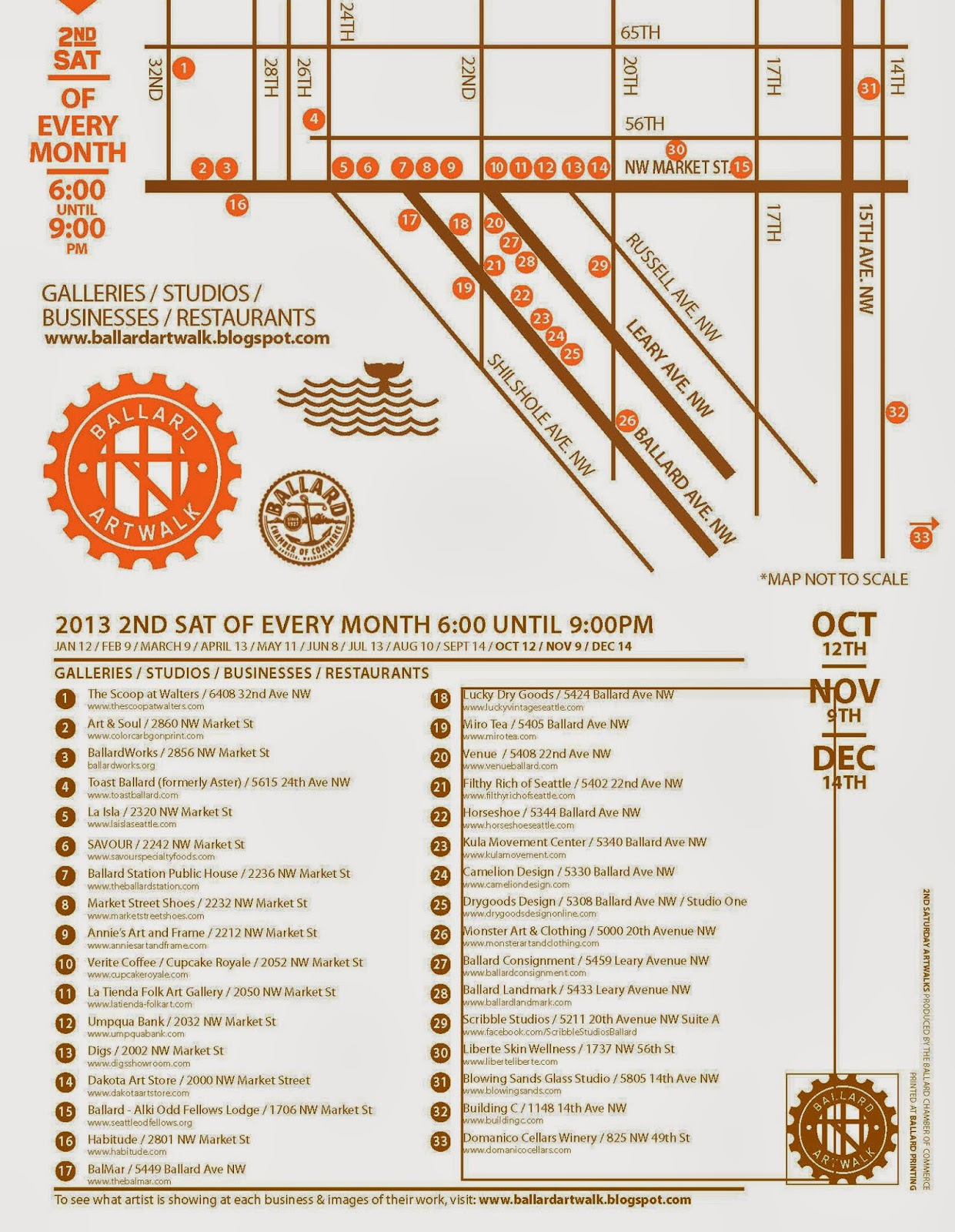 Ballard Art Walk Map
