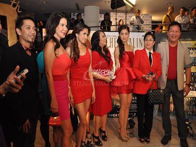Jhong Hilario, Carmi Martin, Ynez Veneracion, Janice De Belen, Kim Chiu, Vilma Santos and Direk Chito Rono during 'The Healing' premiere night