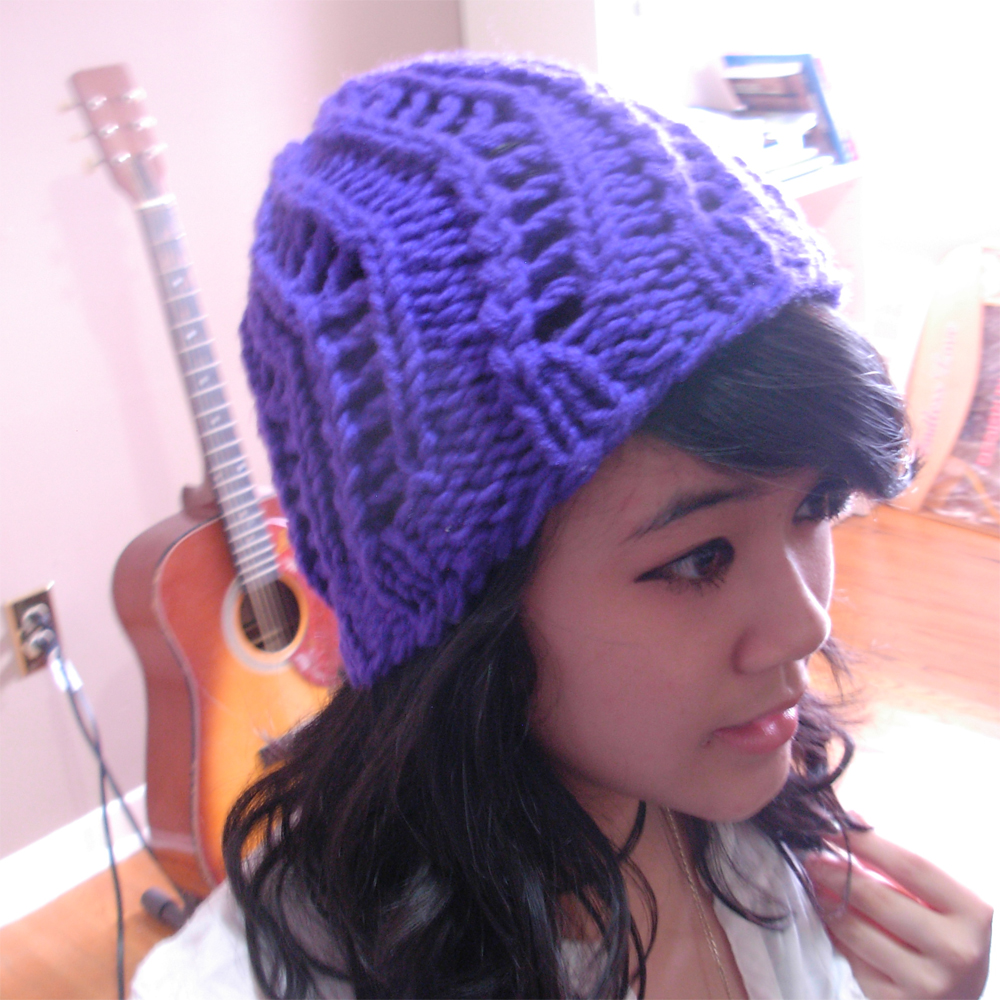 Knitting Loom Hat Stitches : The Casual Loom Knitter: Zig-Zag Spring Hat Pattern