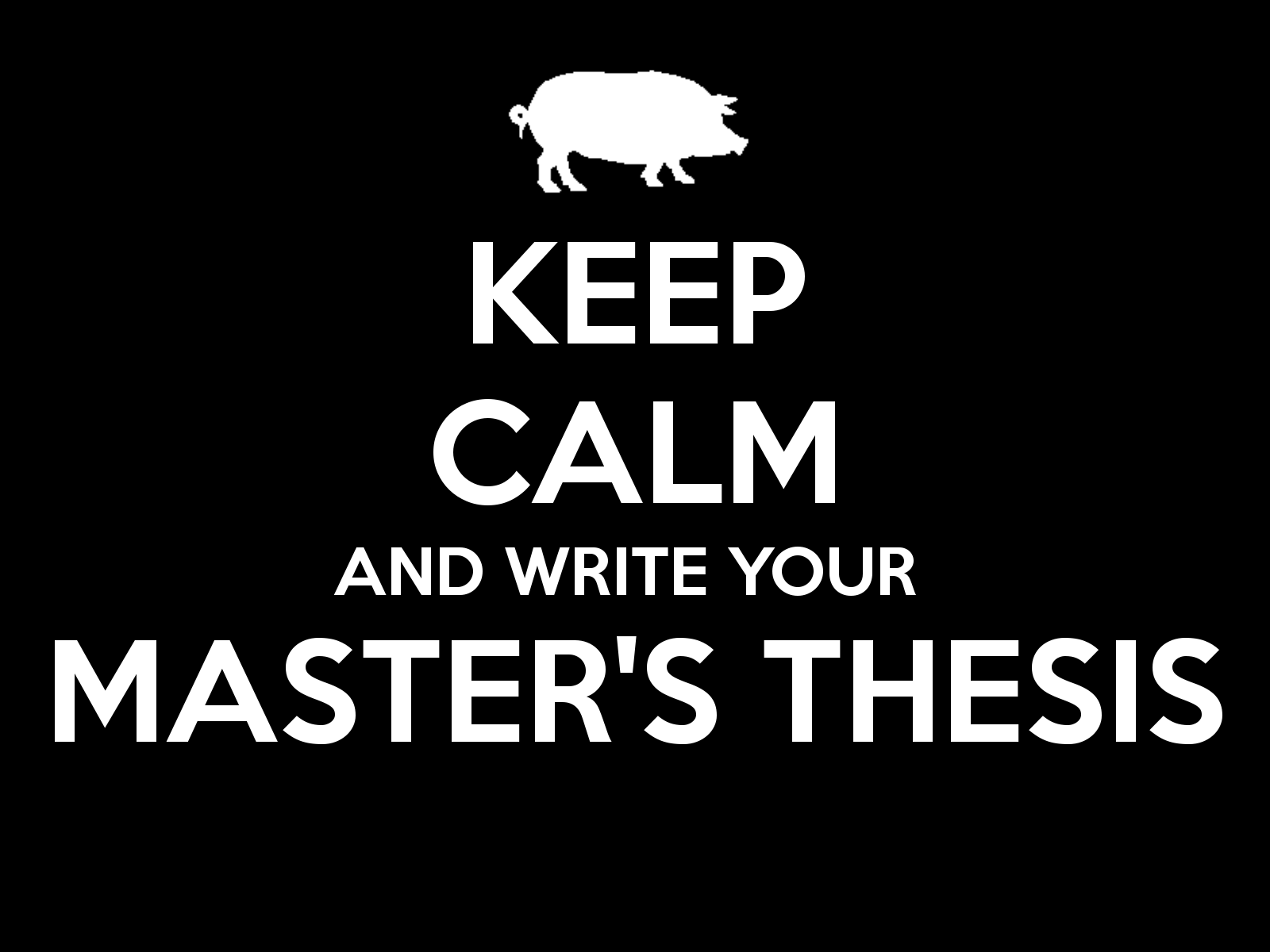 Guidelines for Writing a Master�s Thesis