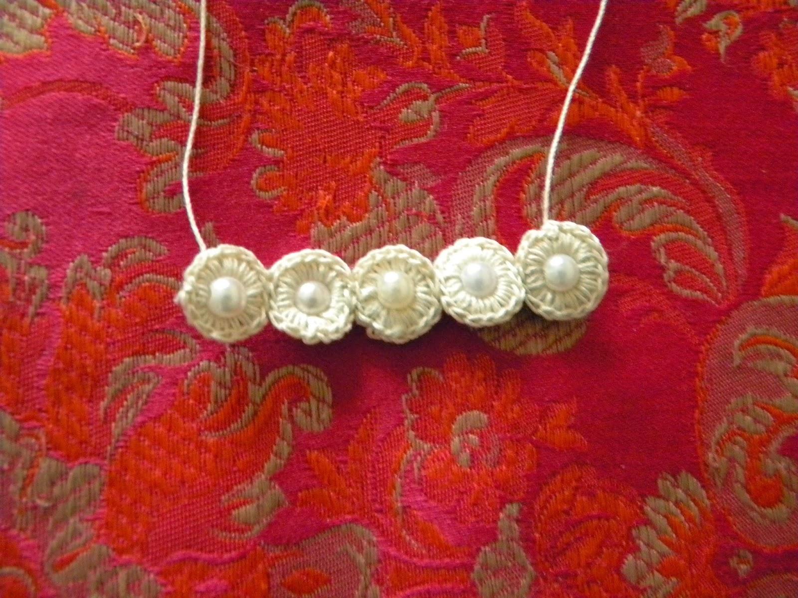 handmade, margele albe