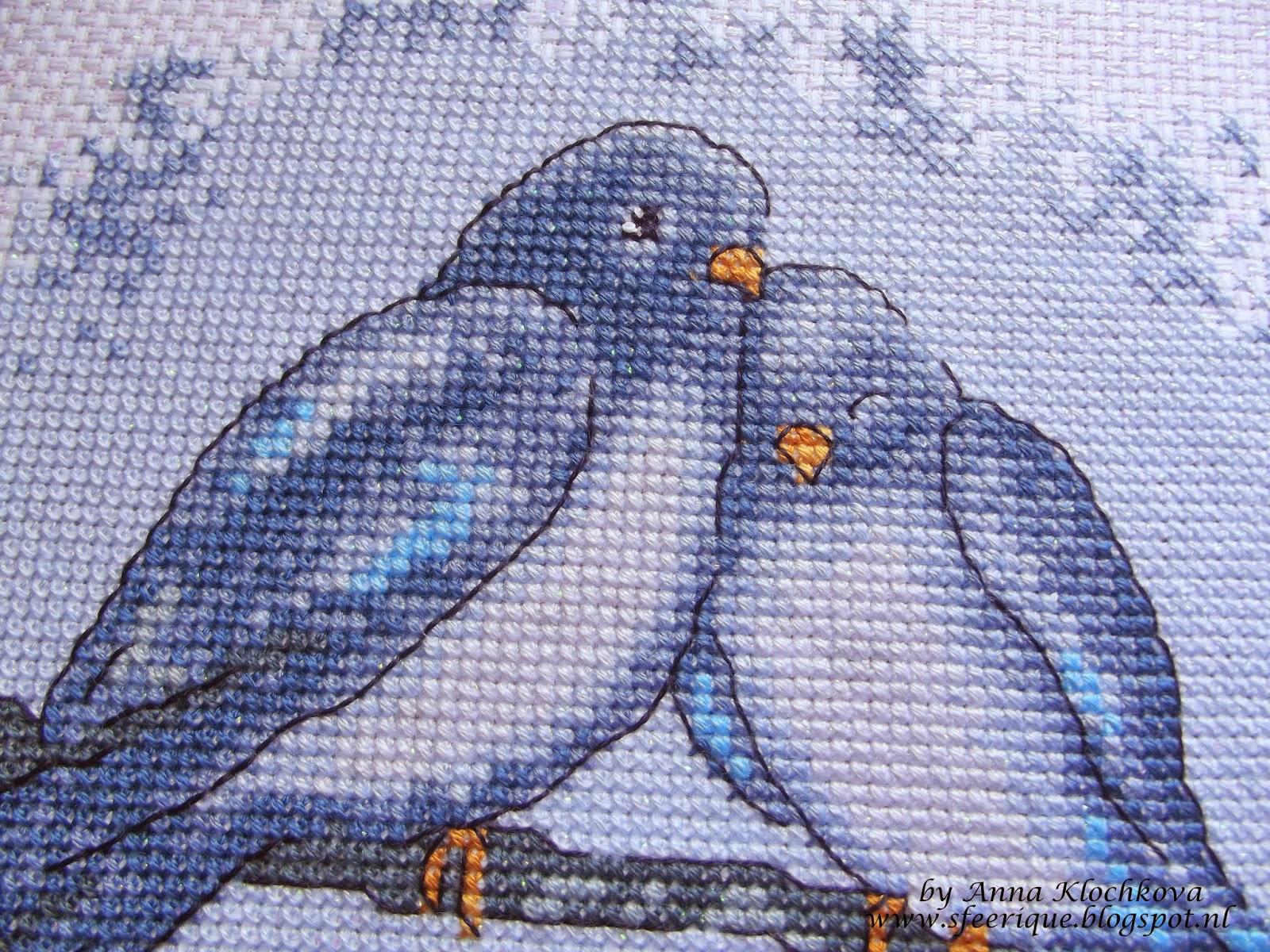 Голуби для вышивки 81